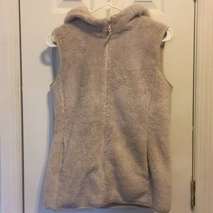Uniqlo | furry sweater vest with a zipper
